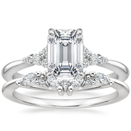 18k White Gold Nadia Diamond Ring With Yvette Diamond Ring Brilliant Earth