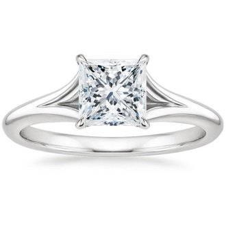 18k white gold reverie ring - Princess Wedding Ring