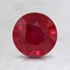 6.5mm Round Ruby, smalltop view