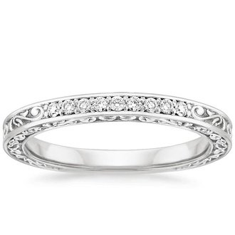 18k white gold - White Gold Wedding Rings For Women