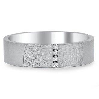 Custom wedding rings brilliant earth horizon diamond fingerprint ring junglespirit Images