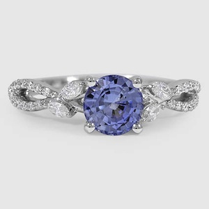 18K White Gold Sapphire Luxe Willow Diamond Ring (1/3 ct. tw.)