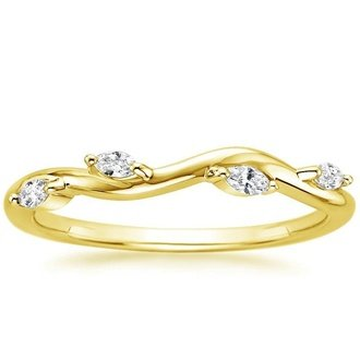 Gold wedding bands brilliant earth 18k yellow gold winding willow diamond ring junglespirit Image collections