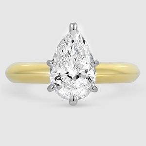 9ffa3c115ff17 18K Yellow Gold Six-Prong Classic Ring