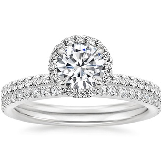 Platinum Waverly Diamond Bridal Set (2/3 ct. tw.)