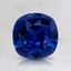 6.5mm Super Premium Blue Cushion Sapphire