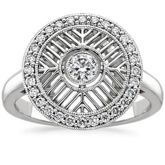 pic 18k white gold derrylin diamond ring - Nontraditional Wedding Rings