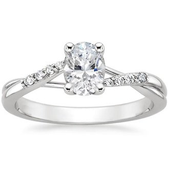 18k white gold chamise diamond ring - Oval Wedding Rings