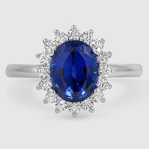 6a3d23953 Sapphire Sunburst Diamond Ring (1/4 ct. tw.) in 18K White Gold