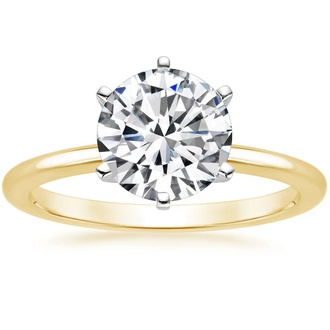 18K Yellow Gold Six-Prong Petite Comfort Fit Ring
