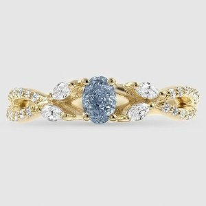 18K Yellow Gold Sapphire Luxe Willow Diamond Ring (1/3 ct. tw.)