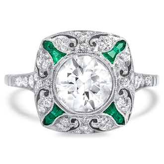 Vintage engagement ring  Vintage and Antique Engagement Rings | Brilliant Earth