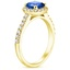 18K Yellow Gold Sapphire Fancy Halo Diamond Ring with Side Stones (2/5 ct. tw.), smallside view
