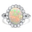 Retro Opal Cocktail Ring
