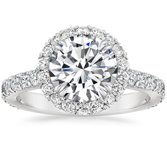 Luxe French Pavé Halo Ring