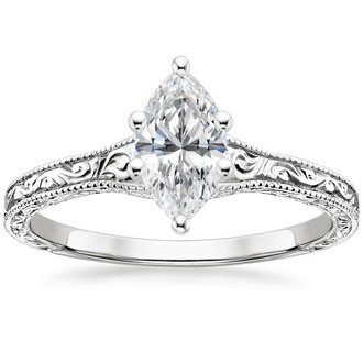 18k white gold hudson ring - Marquise Wedding Rings