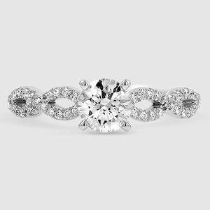 0115ad0c0c70a 14K Rose Gold Infinity Diamond Ring