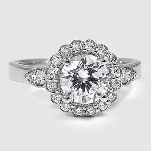 18K White Gold Camillia Diamond Ring