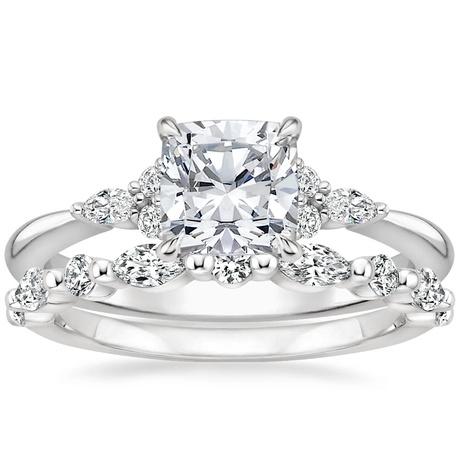 18k White Gold Nadia Diamond Ring With Versailles Diamond Ring 3 8 Ct Tw Brilliant Earth