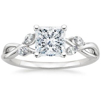 cut set square cushion engagement with ring halo diamond rings
