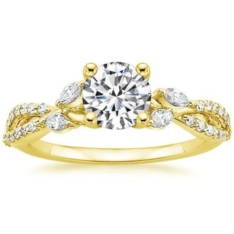 18k yellow gold luxe willow diamond ring - Wedding Rings Yellow Gold