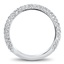 Multi-Row Pave Set Wedding Band, smallside view