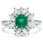 Retro Emerald Cocktail Ring