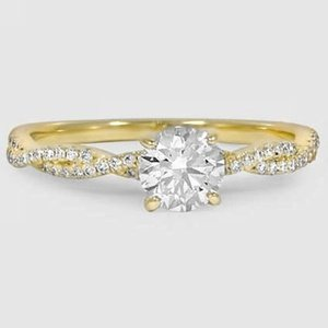 18K Yellow Gold Petite Luxe Twisted Vine Diamond Ring (1/4 ct. tw.)