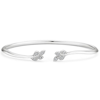 Nature Inspired Diamond Cuff Bracelet