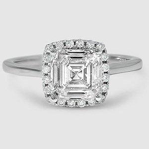Pav Diamond Ring French Halo Brilliant Earth