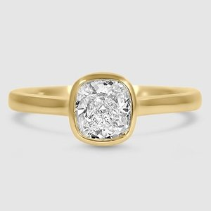 18K Yellow Gold Luna Ring