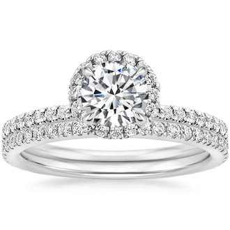 Merveilleux 18K White Gold. WAVERLY DIAMOND BRIDAL SET ...