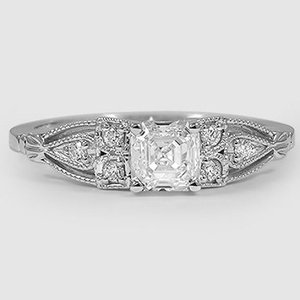18K White Gold Rosabel Diamond Ring
