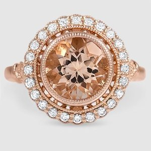 14K Rose Gold Sapphire Bella Diamond Ring