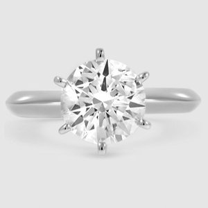 Platinum Six-Prong Classic Ring