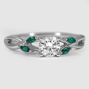 wedding halo gold on and white diamond cut carat emerald cushion designer ring test set rings