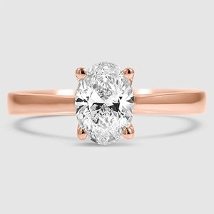 14K Rose Gold Petite Tapered Trellis Ring