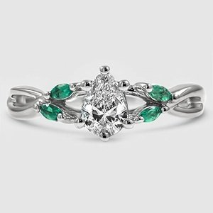 Engagement Ring With Emeralds Willow Brilliant Earth