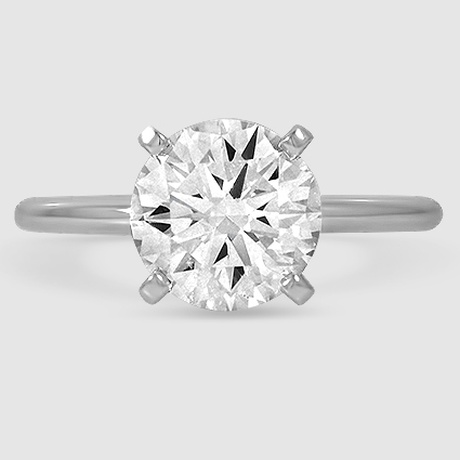 Disciplined 2.5 Ct Round Golden Genuine Moissanite 10k White Gold Round Halo Stud Earrings Jewelry & Watches