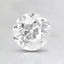 0.96 Ct., I Color, VS2 Clarity, Round Old European Cut Diamond