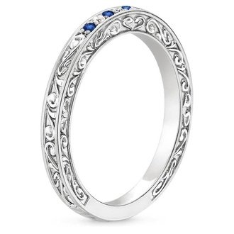 Womens Blue Sapphire Wedding Rings