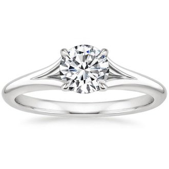 contemporary mark engagement band wedding modern cascade ring rings schneider design