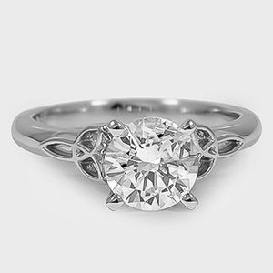 celtic love knot ring brilliant earth engagement ring