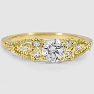 18K Yellow Gold Rosabel Diamond Ring