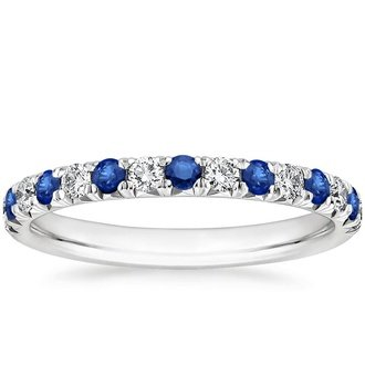 pic 18k white gold sienna sapphire and diamond ring - Sapphire Wedding Rings