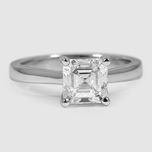 Platinum Petite Tapered Trellis Ring