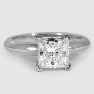 18K White Gold Four-Prong Classic Ring