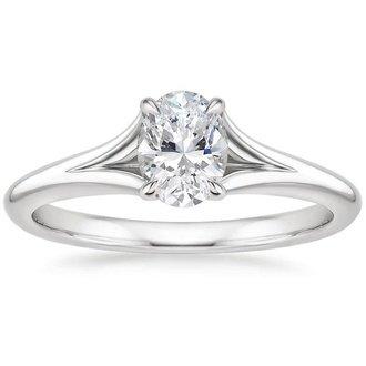 18k white gold reverie ring - Oval Wedding Rings