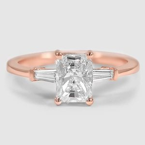 14K Rose Gold Tapered Baguette Diamond Ring