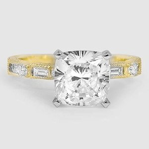 18K Yellow Gold Vintage Diamond Baguette Ring (1/4 ct. tw.)
